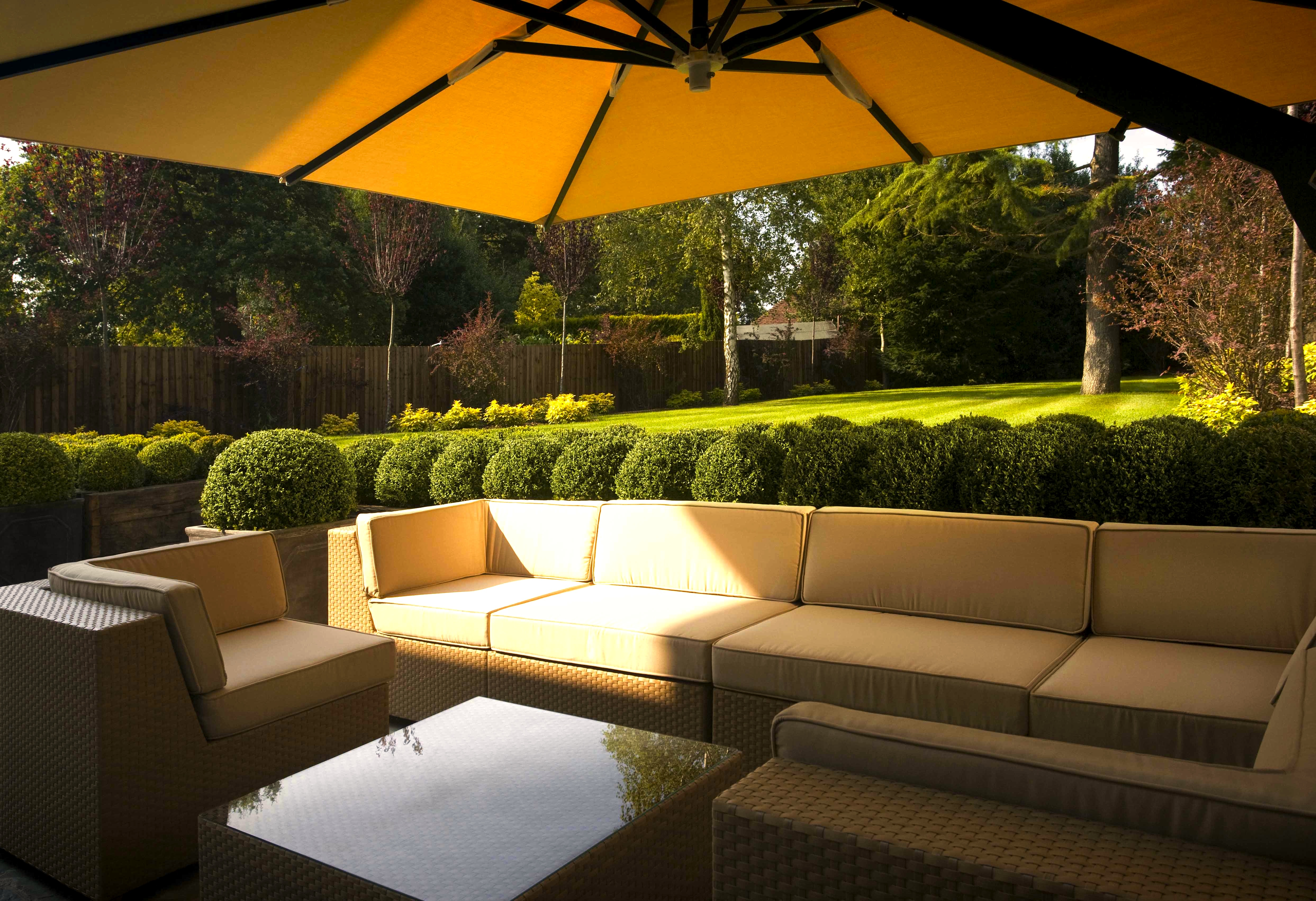 How to create the perfect summertime outdoor space Beige from below
