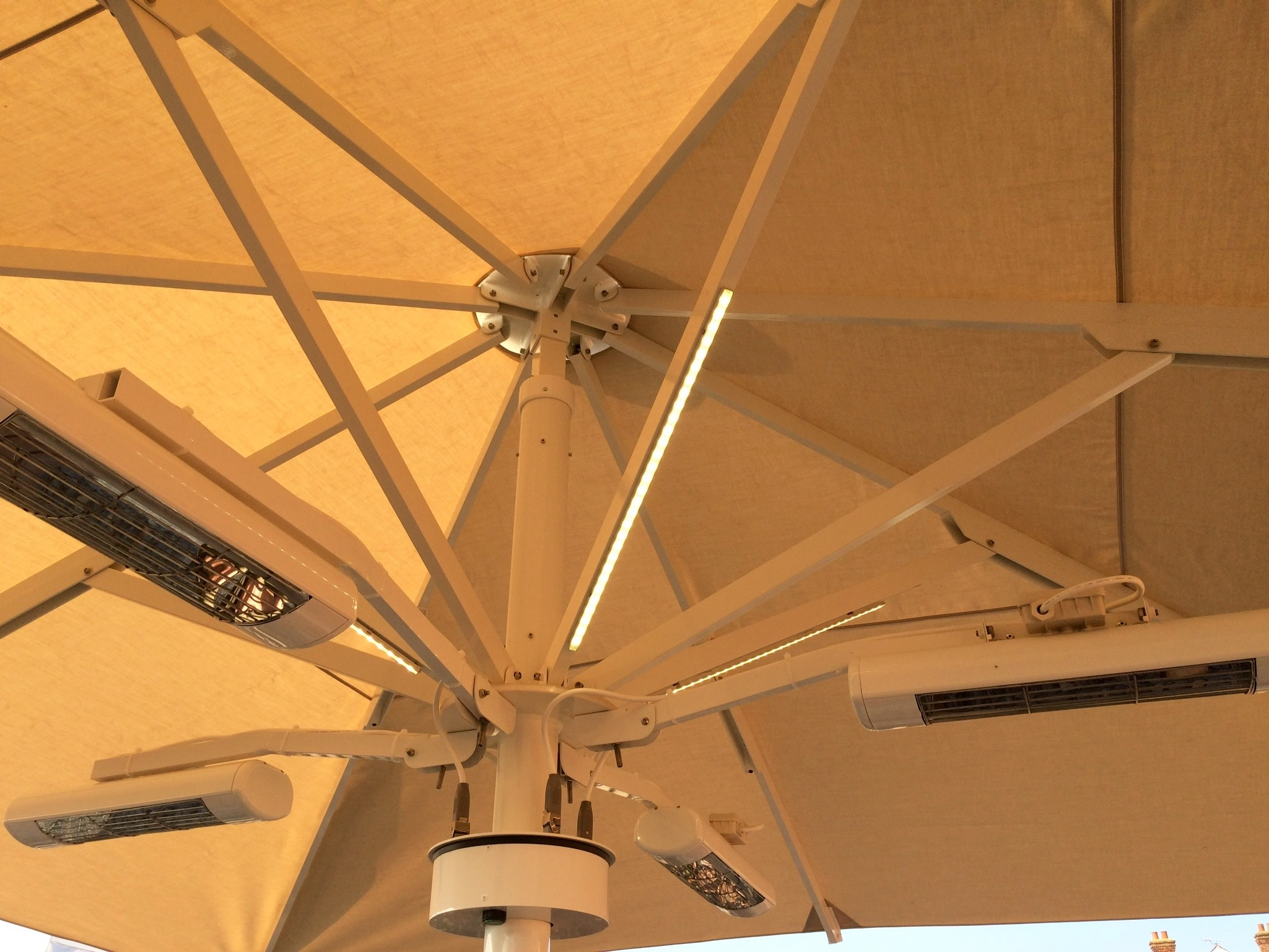 Pub Umbrella with Lights