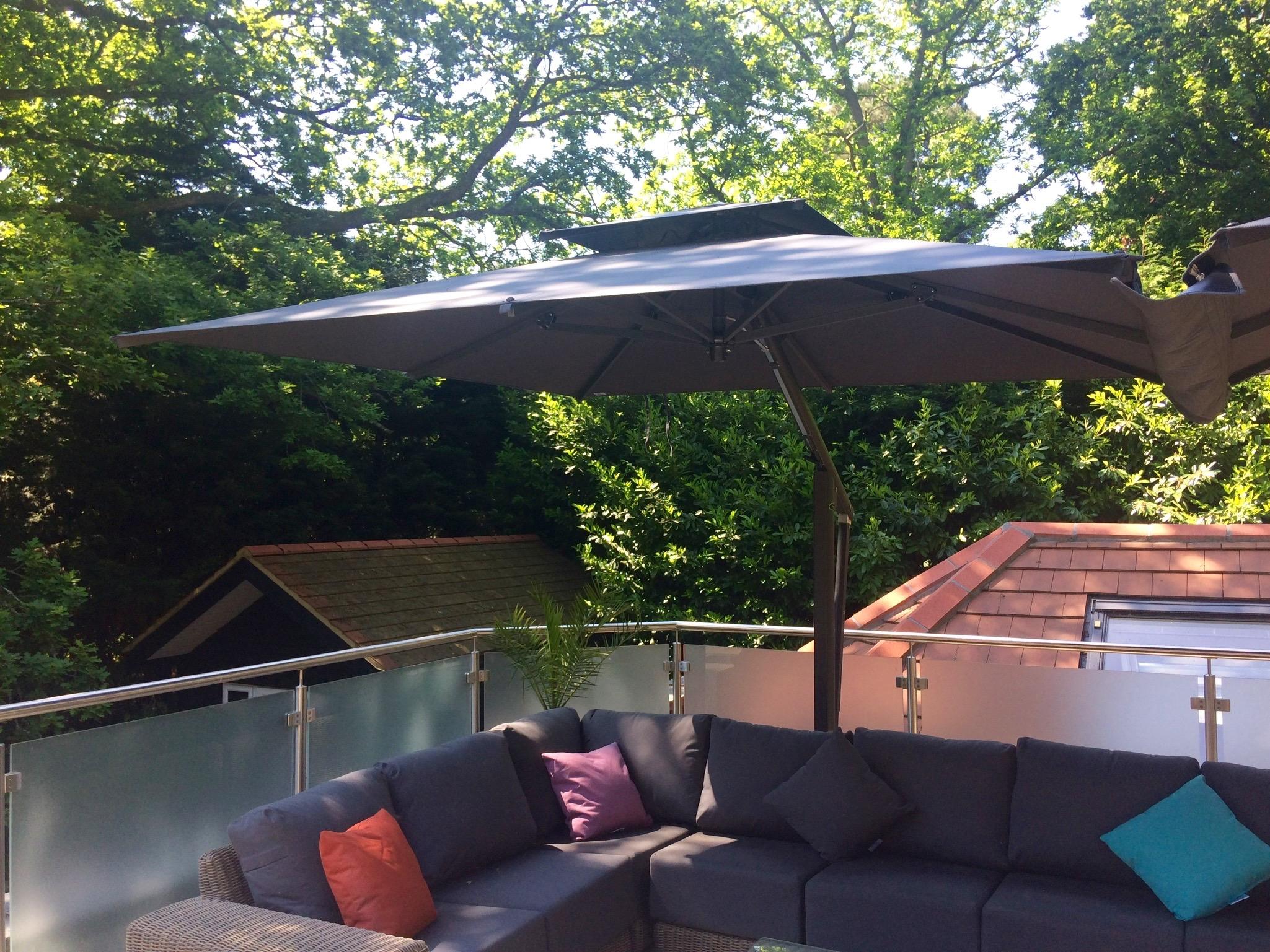 Grey Garden Parasol - Wells Umbrellas