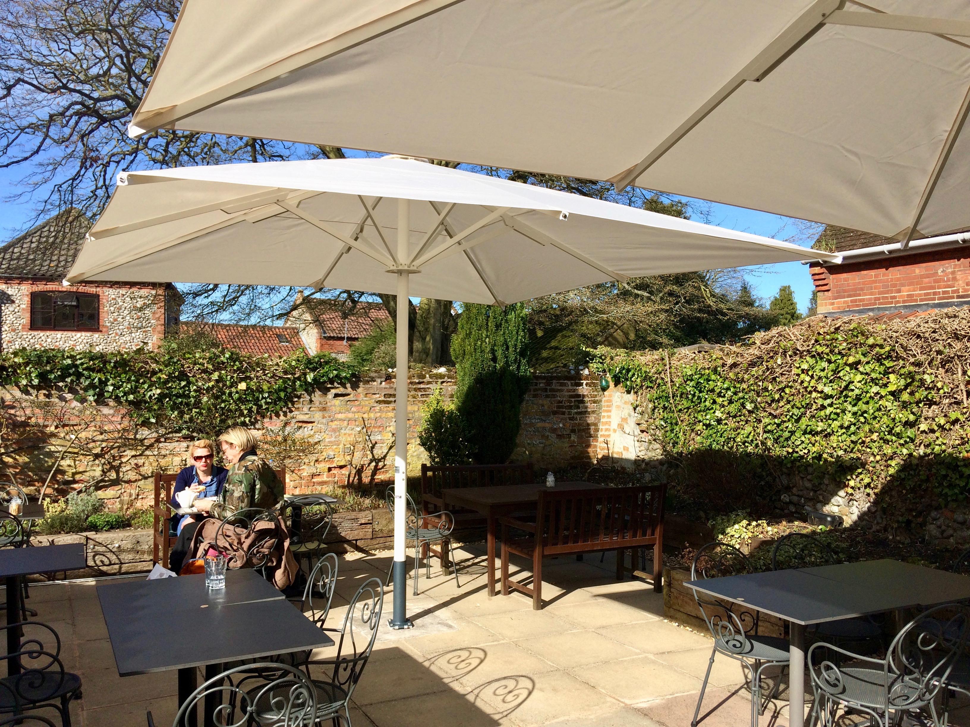 Umbrellas For Cafe Courtyard
