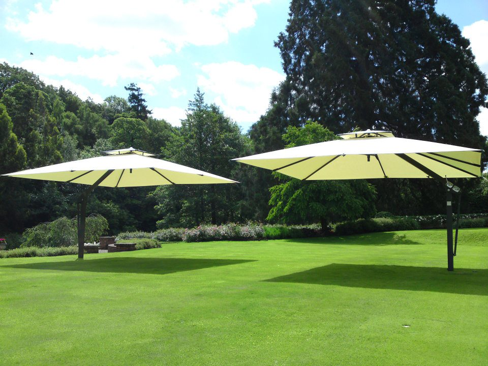 Two Large Garden Umbrellas