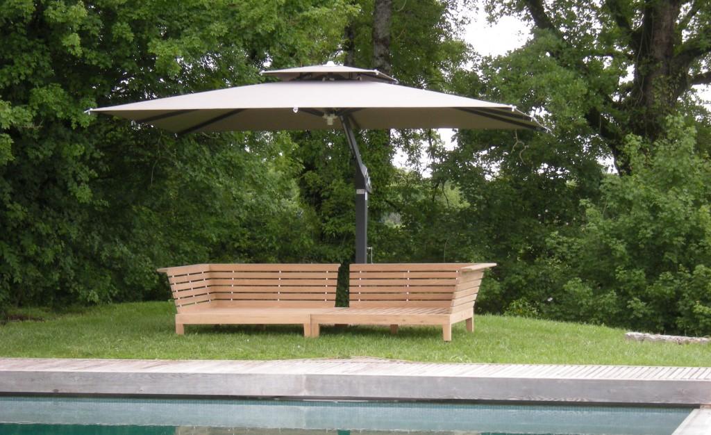 Taupe Large Garden Parasol