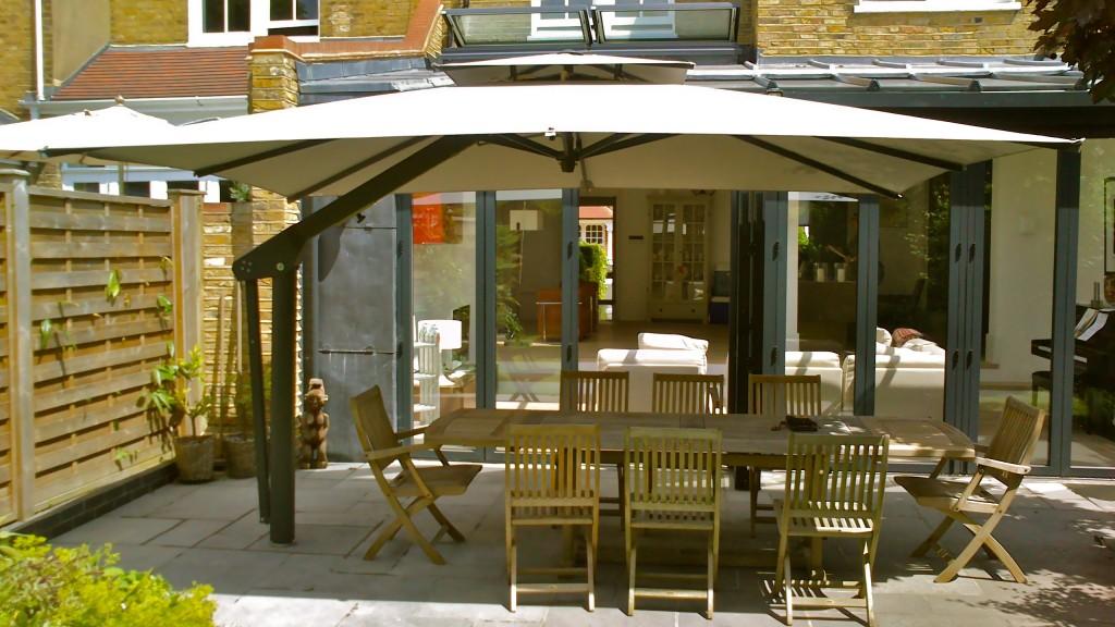 Cantilever Umbrella London - Colour Grey