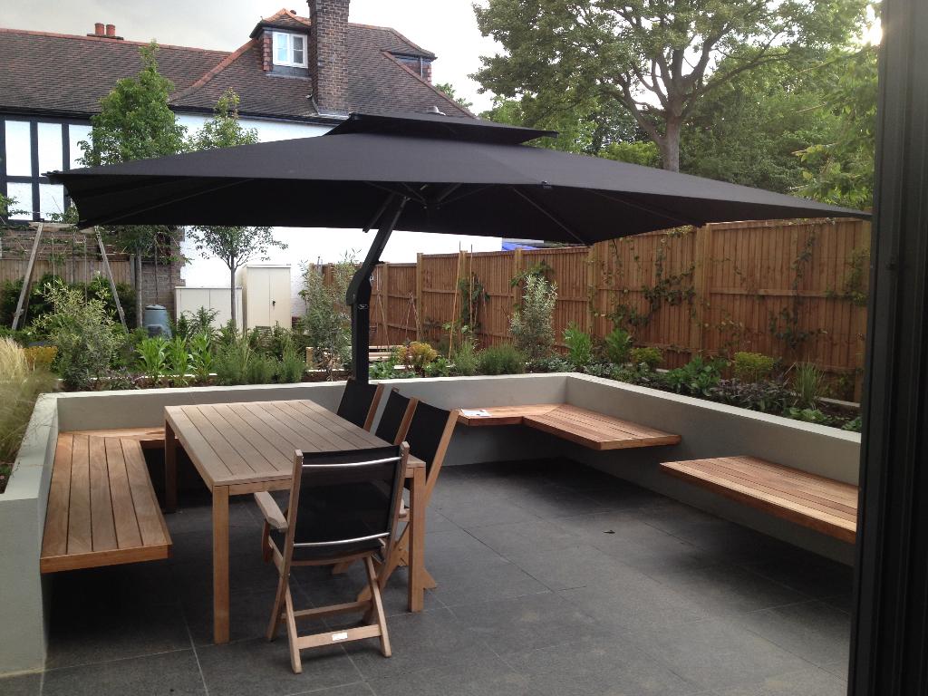 Piazza Side Arm Cantilever Garden Parasol